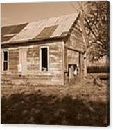 One Room School House Canvas Print
