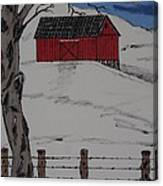 Only A Winter Day Canvas Print