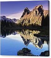 Opabin Lakes In Yoho National Park Canvas Print