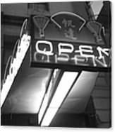 Open For Business Bw Canvas Print