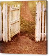 Open Gate To Cottage Canvas Print