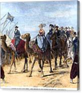 Opening Of The Suez Canal Canvas Print