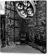 Operating Room - Eastern State Penitentiary - Black And White Canvas Print