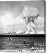 Operation Crossroads, Able Detonation Canvas Print