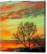 Orange And Blue Sky Canvas Print