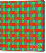 Orange And Green Basketweave Canvas Print