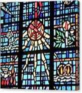 Orange Blue Stained Glass Window Canvas Print