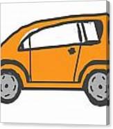 Orange Car Canvas Print
