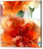 Orange Carnations Canvas Print