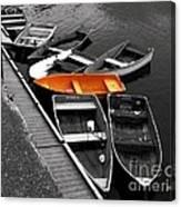 Orange Dinghy Canvas Print