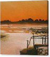 Orange Estuary Canvas Print