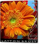 Orange Floral Canvas Print