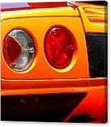 Orange Lamborghinni  Canvas Print