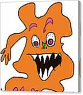 Orange Monster 1 Canvas Print
