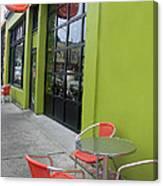 Orange Neon Coffee Canvas Print