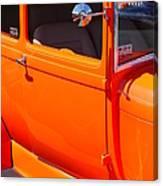 Orange Passenger Door Canvas Print
