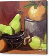 Orange Pears Canvas Print