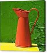 Orange Pitcher Canvas Print