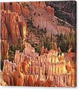 Orange Rock Formations And Trees At Canvas Print