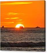 Orange Sunset V Canvas Print