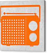 Orange Transistor Radio Canvas Print