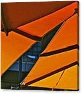 Orange Umbrella Abstract Canvas Print