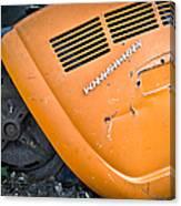 Orange Vw Bug Canvas Print