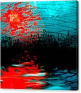Orangeburst Canvas Print