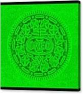 Oreo In Green Canvas Print