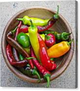 Organic Colorful Peppers Canvas Print
