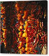 Organically-grown Peppers Are Hung Canvas Print