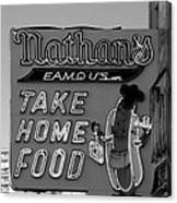 Original Nathan's In Black And White  Canvas Print
