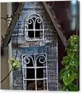 Ornamental Bird House Canvas Print