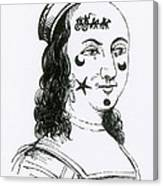 Ornamental Patches On Face, 17th Century Canvas Print