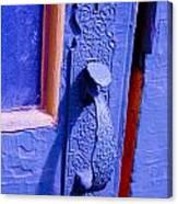 Ornate Blue Handle 2 Canvas Print