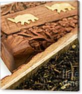 Ornate Box With Darjeeling Tea Canvas Print