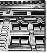 Ornate Building - Black And White Canvas Print