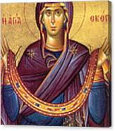 Orthodox Icon Virgin Mary Canvas Print