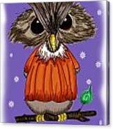 Oscar Owl Canvas Print