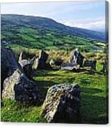 Ossians Grave, Co Antrim, Ireland Stone Canvas Print