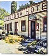 out front Cardrona Hotel Canvas Print