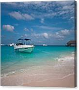 Out Of Border. Maldives Canvas Print