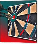 Out Of Bounds Bullseye Canvas Print
