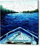 Out On The Boat Canvas Print