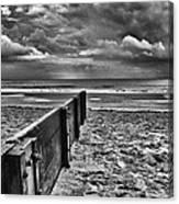 Out To Sea Monochrome Canvas Print
