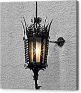Outdoor Wall Lamp Aglow Canvas Print