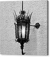 Outdoor Wall Lamp Bw Canvas Print
