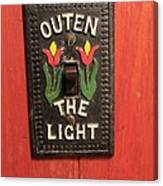 Outen The Light Canvas Print