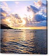 Outrigger Canoes Hanalei Bay Kauai Canvas Print
