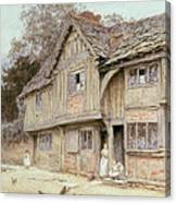 Outside A Timbered Cottage Canvas Print